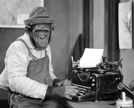 Scriptwriting is so easy even a monkey can do it.